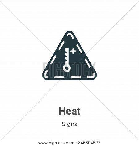 Heat icon isolated on white background from signs collection. Heat icon trendy and modern Heat symbo