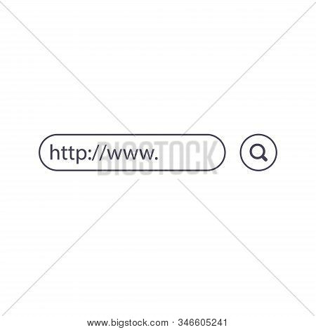 Www Search Bar Icons. Vector Illustration Isolated On Background. Www Search Bar Icon For Web Site,