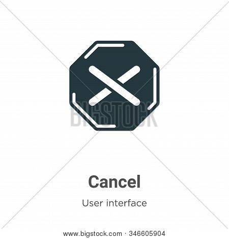 Cancel icon isolated on white background from user interface collection. Cancel icon trendy and mode