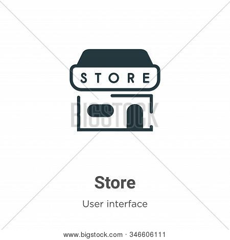Store icon isolated on white background from user interface collection. Store icon trendy and modern