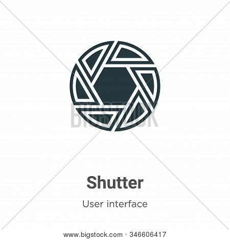 Shutter Glyph Icon Vector On White Background. Flat Vector Shutter Icon Symbol Sign From Modern User
