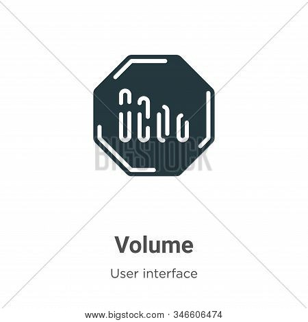 Volume Glyph Icon Vector On White Background. Flat Vector Volume Icon Symbol Sign From Modern User I