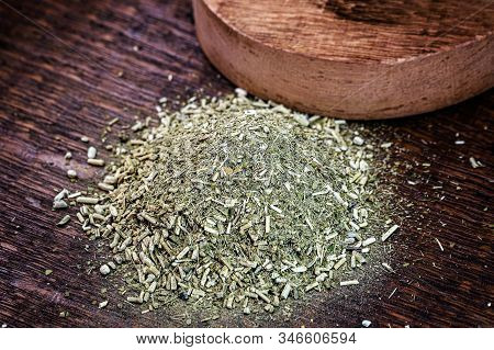 Traditional Yerba Mate Tea From South America. Selective Focus. Gaucho Yerba Mate Tea, Chimarrão, A