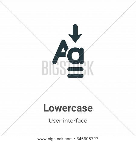 Lowercase icon isolated on white background from user interface collection. Lowercase icon trendy an