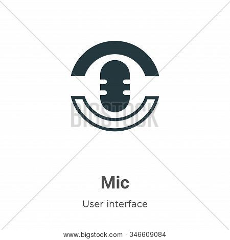 Mic icon isolated on white background from web navigation collection. Mic icon trendy and modern Mic