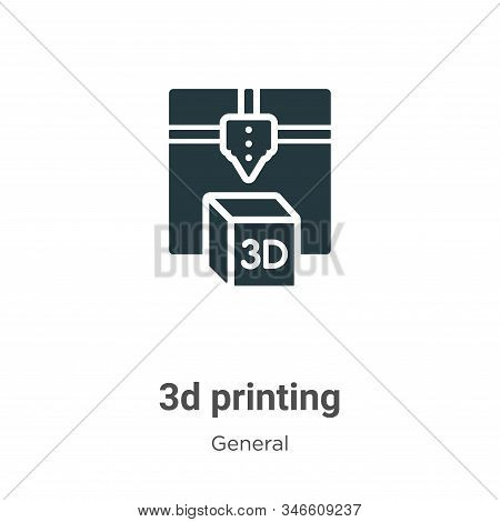 3d printing icon isolated on white background from general collection. 3d printing icon trendy and m