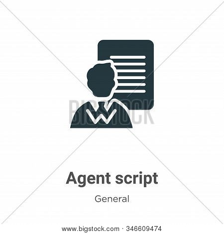 Agent script icon isolated on white background from general collection. Agent script icon trendy and