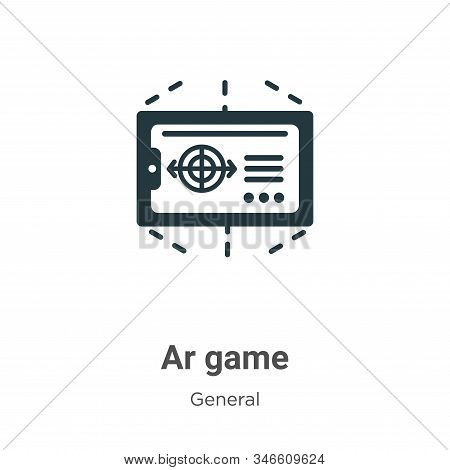 Ar game icon isolated on white background from general collection. Ar game icon trendy and modern Ar