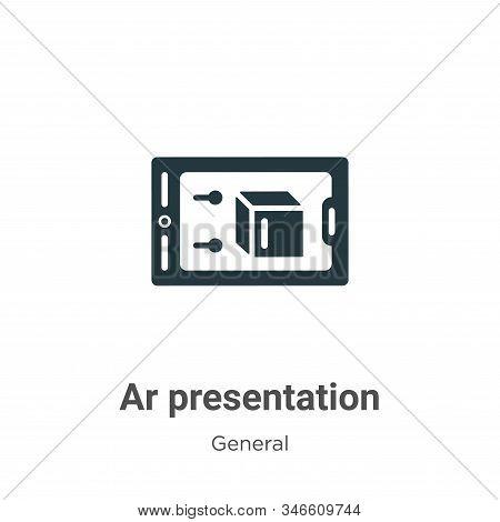 Ar presentation icon isolated on white background from general collection. Ar presentation icon tren