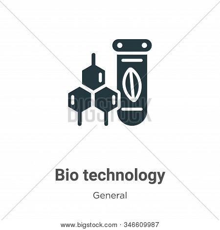 Bio technology icon isolated on white background from general collection. Bio technology icon trendy