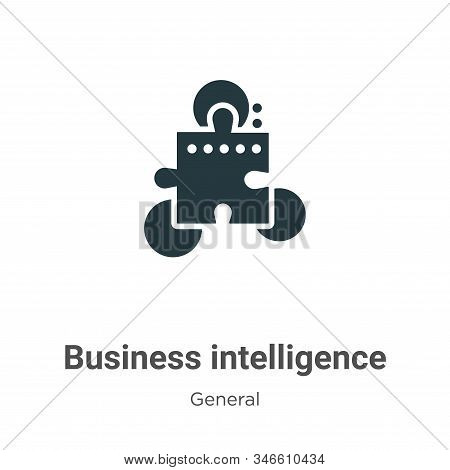 Business intelligence icon isolated on white background from general collection. Business intelligen