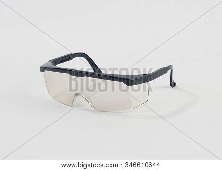 Safety Glasses, Protection Eyewear Isolated On White Background