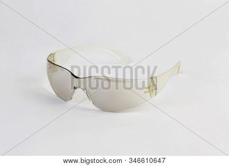 Protective Eyewear, Safety Glasses Isolated On White Background