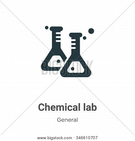 Chemical lab icon isolated on white background from general collection. Chemical lab icon trendy and