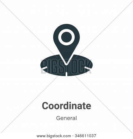 Coordinate icon isolated on white background from general collection. Coordinate icon trendy and mod
