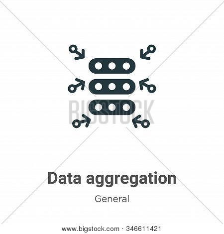 Data Aggregation Glyph Icon Vector On White Background. Flat Vector Data Aggregation Icon Symbol Sig