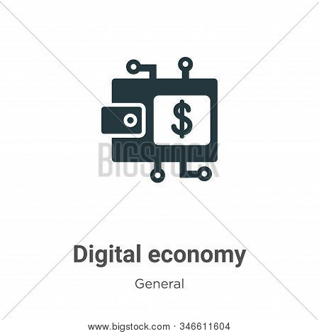Digital economy icon isolated on white background from general collection. Digital economy icon tren