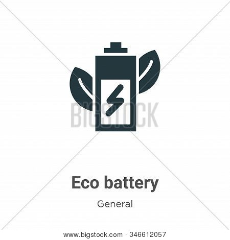 Eco battery icon isolated on white background from general collection. Eco battery icon trendy and m
