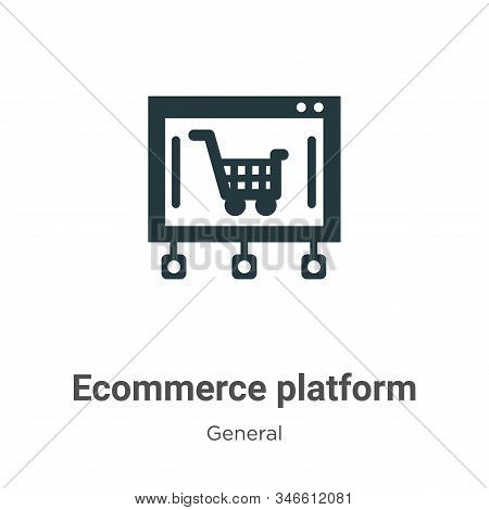 Ecommerce Platform Glyph Icon Vector On White Background. Flat Vector Ecommerce Platform Icon Symbol