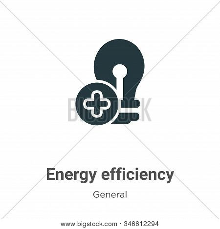 Energy efficiency icon isolated on white background from general collection. Energy efficiency icon