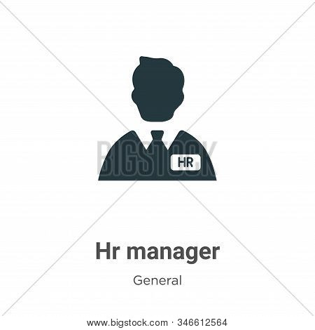 Hr manager icon isolated on white background from general collection. Hr manager icon trendy and mod