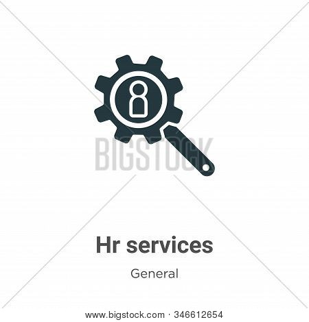 Hr services icon isolated on white background from general collection. Hr services icon trendy and m