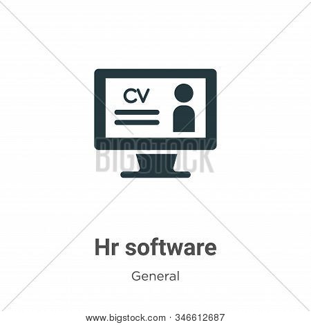 Hr software icon isolated on white background from general collection. Hr software icon trendy and m