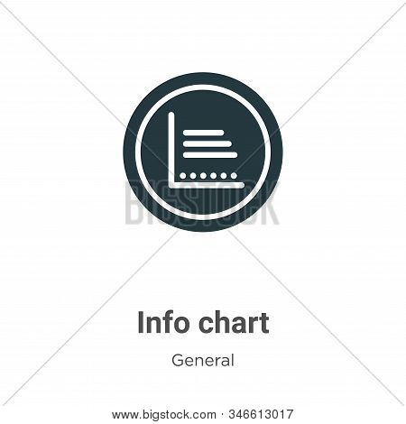 Info chart icon isolated on white background from general collection. Info chart icon trendy and mod