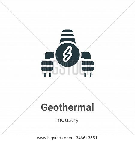 Geothermal Glyph Icon Vector On White Background. Flat Vector Geothermal Icon Symbol Sign From Moder