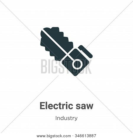 Electric saw icon isolated on white background from industry collection. Electric saw icon trendy an