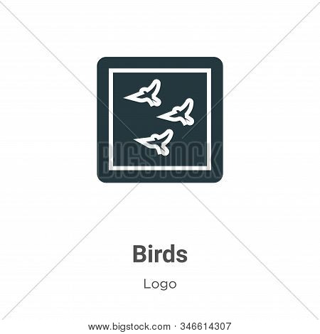 Birds icon isolated on white background from logo collection. Birds icon trendy and modern Birds sym