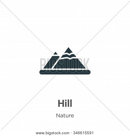 Hill icon isolated on white background from nature collection. Hill icon trendy and modern Hill symb