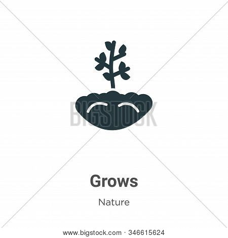 Grows icon isolated on white background from nature collection. Grows icon trendy and modern Grows s