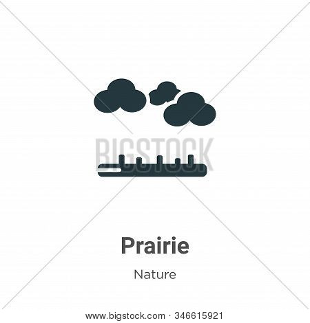 Prairie icon isolated on white background from nature collection. Prairie icon trendy and modern Pra