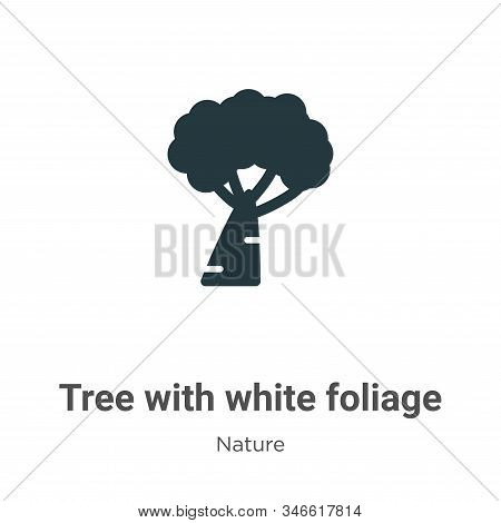 Tree with white foliage icon isolated on white background from nature collection. Tree with white fo