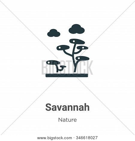 Savannah icon isolated on white background from nature collection. Savannah icon trendy and modern S