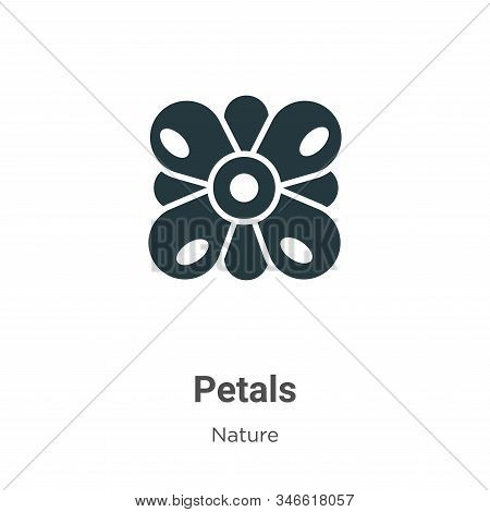 Petals icon isolated on white background from nature collection. Petals icon trendy and modern Petal
