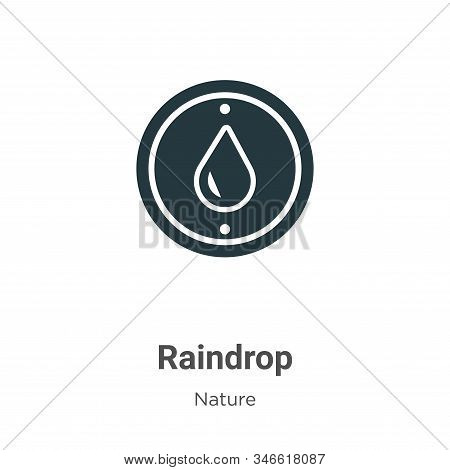 Raindrop icon isolated on white background from nature collection. Raindrop icon trendy and modern R