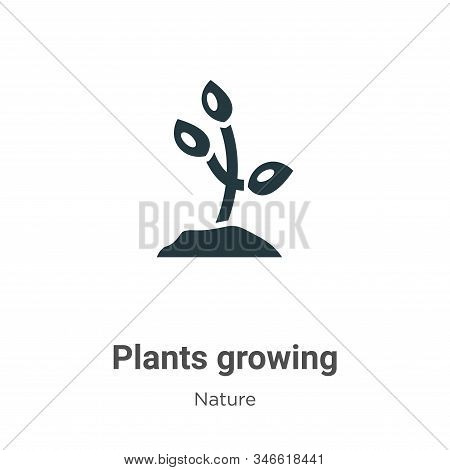 Plants growing icon isolated on white background from nature collection. Plants growing icon trendy