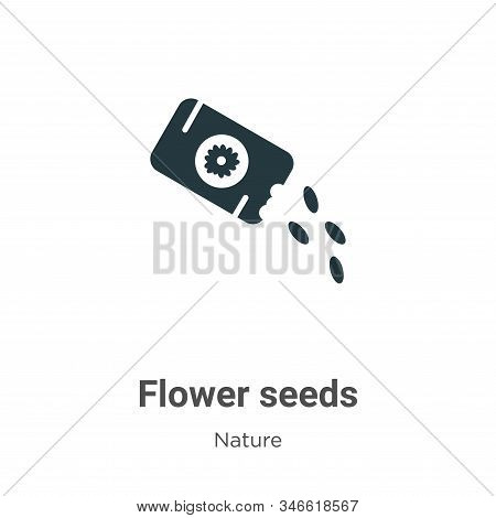 Flower seeds icon isolated on white background from nature collection. Flower seeds icon trendy and