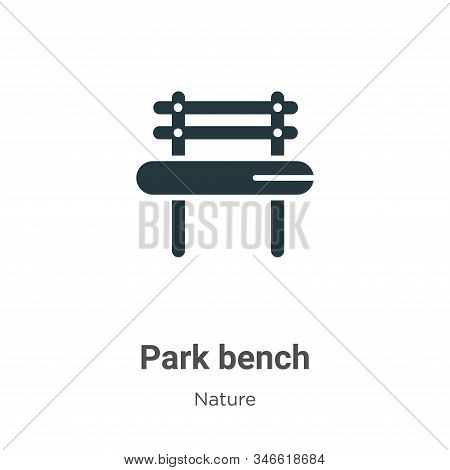 Park bench icon isolated on white background from nature collection. Park bench icon trendy and mode