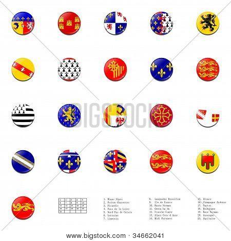 Flags balls of France regions