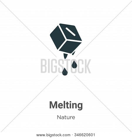 Melting icon isolated on white background from nature collection. Melting icon trendy and modern Mel