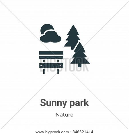 Sunny Park Glyph Icon Vector On White Background. Flat Vector Sunny Park Icon Symbol Sign From Moder