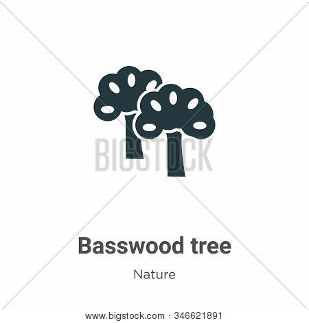 Basswood tree icon isolated on white background from nature collection. Basswood tree icon trendy an