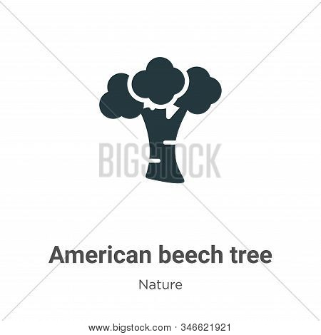 American beech tree icon isolated on white background from nature collection. American beech tree ic