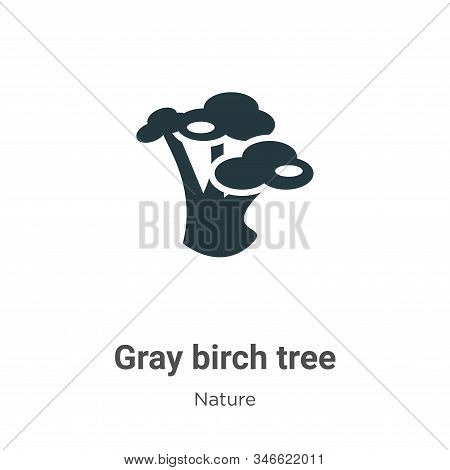 Gray birch tree icon isolated on white background from nature collection. Gray birch tree icon trend