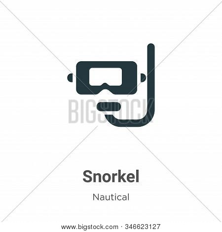 Snorkel icon isolated on white background from nautical collection. Snorkel icon trendy and modern S
