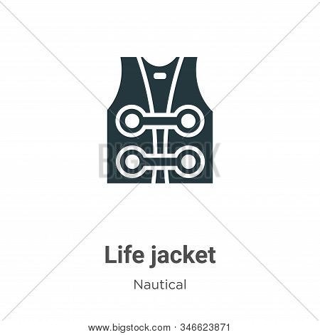 Life Jacket Glyph Icon Vector On White Background. Flat Vector Life Jacket Icon Symbol Sign From Mod