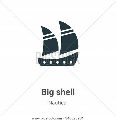 Big shell icon isolated on white background from nautical collection. Big shell icon trendy and mode